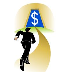 Go to big money vector image vector image