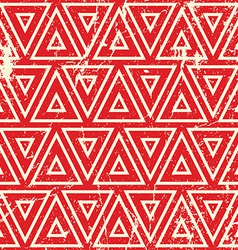 Grunge vintage geometric seamless pattern old vector image vector image