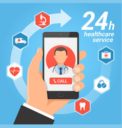 Healthcare mobile service concept vector