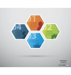 Hexagon infographic vector image
