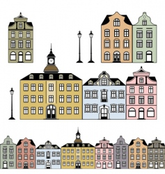 historic houses vector image