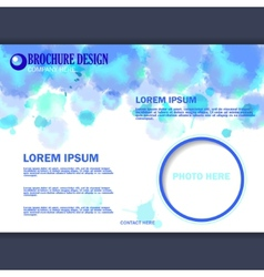 horizontal business brochure for design vector image vector image