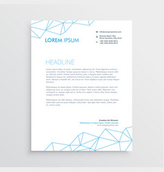 minimal letterhead design template with lines vector image vector image