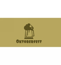 Oktoberfest beer festival with a beer glass vector