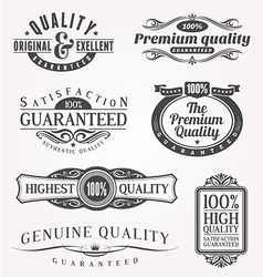 Ornate emblems of quality vector