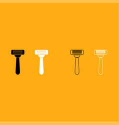 razor it is white icon vector image