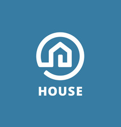 Real estate house logo icon design template vector