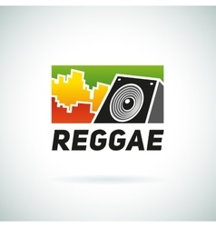 Reggae music equalizer sound logo emblem vector