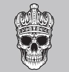 Skull king vector vector