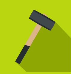 Sledgehammer icon flat style vector