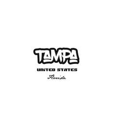 United states tampa florida city graffitti font vector