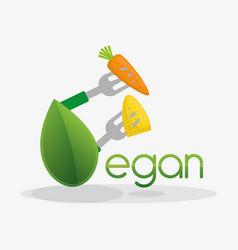 vegan food healthy nutrition design vector image