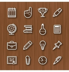 line icons set for business vector image