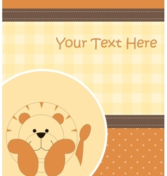 Card with cartoon lion vector image