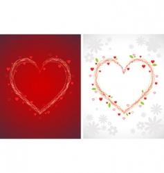 swirly hearts vector image