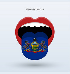 Electoral vote of pennsylvania abstract mouth vector