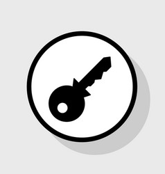 key sign   flat black icon in vector image