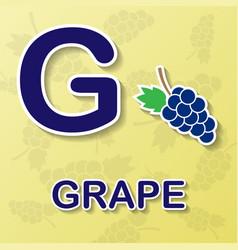 grape alphabet background vector image
