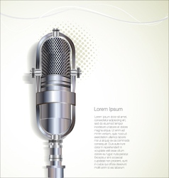 Old retro microphone background vector image