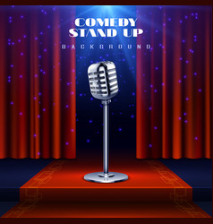 Stand up comedy background with retro vector