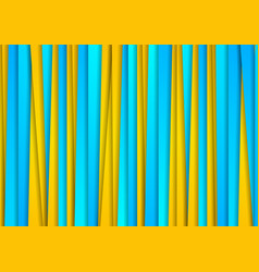 Yellow and turquoise abstract corporate stripes vector