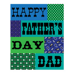 Happy fathers day bandana card blue green vector