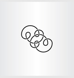 Black knot infinity symbol vector