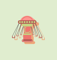 Merry-go-round icon in sticker style vector