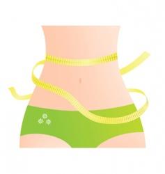 waist measurement vector image