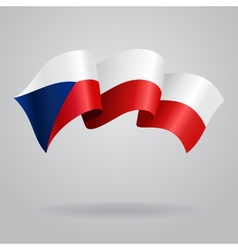 Czech waving flag vector