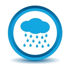 Blue rain icon vector
