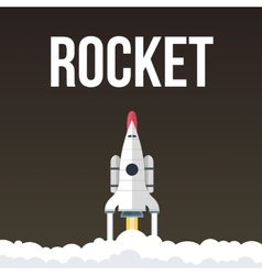 Rocket that fly in universe vector
