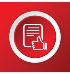 Good document icon on red vector