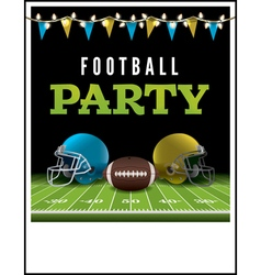 American football party poster vector