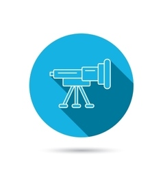 Telescope icon spyglass sign vector