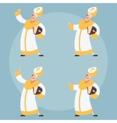 Set of catolic popes vector