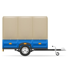 Car trailer 03 vector