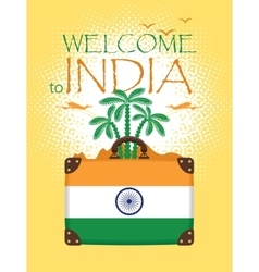 Travel banner of india vector