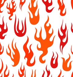 Different abstract flame silhouettes collection vector