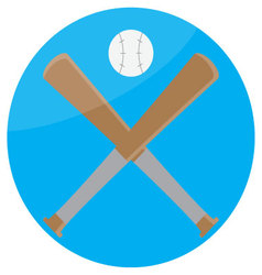 Icon baseball design flat vector