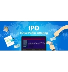 Ipo initial public offering stocks market company vector
