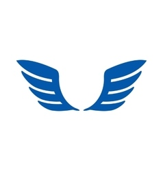 A pair of blue wings icon simple style vector