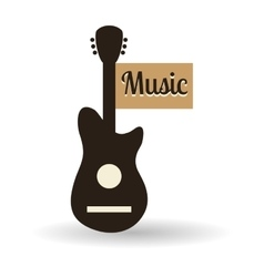 Music design guitar icon isolated vector