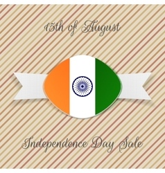 India Independence Day Holiday Emblem vector image