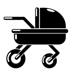 Baby carriage family icon simple black style vector