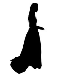 beautiful fashion girl silhouette on a white vector image