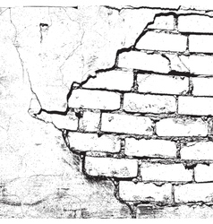 Brick damaged texture vector