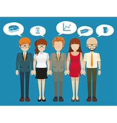 Business minded people with different thoughts vector