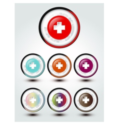 Buttons cross sign vector