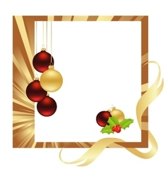 christmas gold vector image